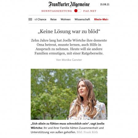 FAZ – Keine Lösung war zu blöd – Pressetext