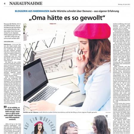 Offenbach-Post – Oma hätte es so gewollt – Pressetext