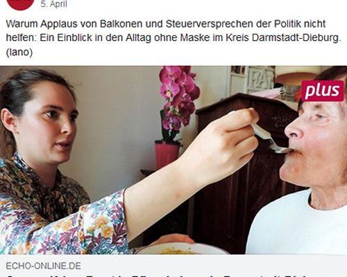 Echo Online – Corona-Krise: Frust in Pflegeheimen in Darmstadt-Dieburg